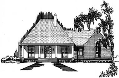 3-Bedroom, 2030 Sq Ft Colonial Home Plan - 113-1045 - Main Exterior