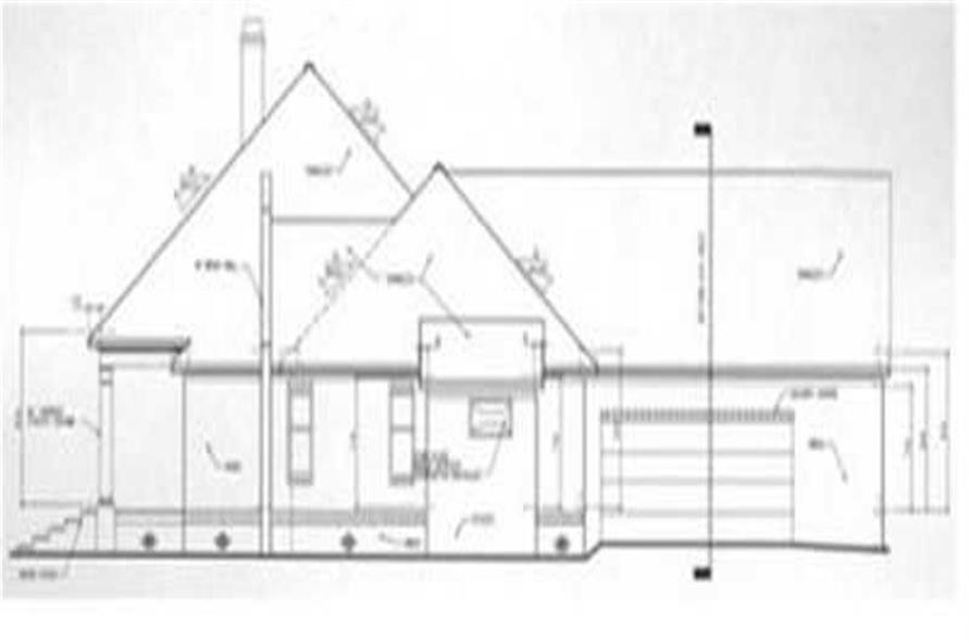 Home Plan Right Elevation of this 3-Bedroom,2030 Sq Ft Plan -113-1045