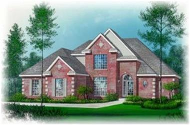 3-Bedroom, 2209 Sq Ft French Home Plan - 113-1046 - Main Exterior