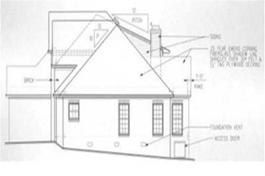 Home Plan Right Elevation of this 3-Bedroom,2209 Sq Ft Plan -113-1046