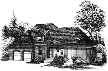 3-Bedroom, 2106 Sq Ft Ranch Home Plan - 113-1048 - Main Exterior