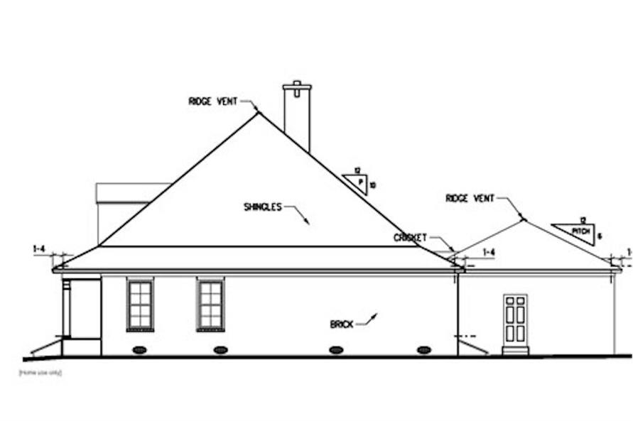 Home Plan Right Elevation of this 3-Bedroom,2438 Sq Ft Plan -113-1049