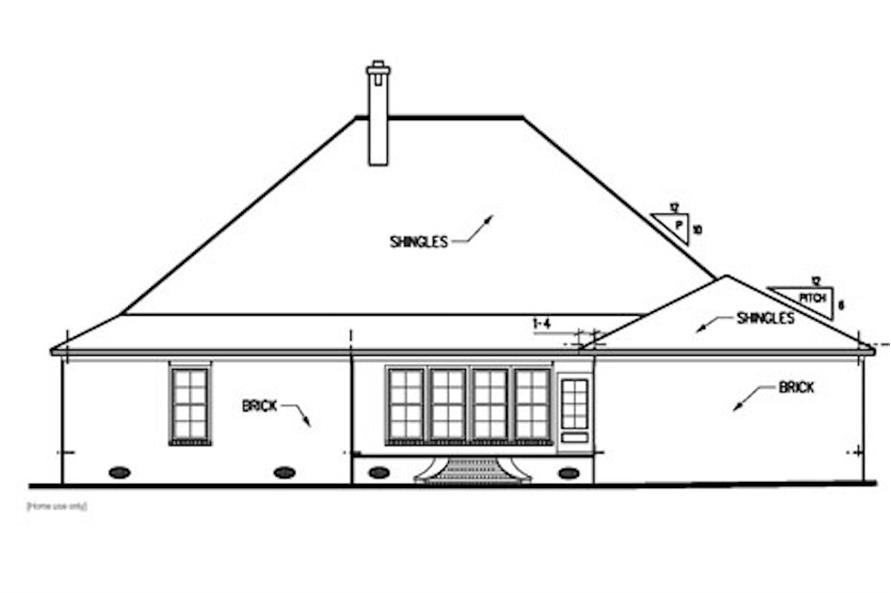 Home Plan Rear Elevation of this 3-Bedroom,2438 Sq Ft Plan -113-1049
