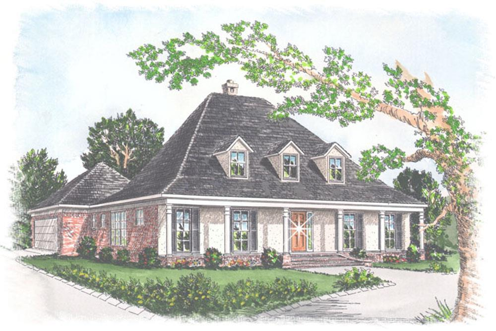 Southern style home (ThePlanCollection: House Plan #113-1049)