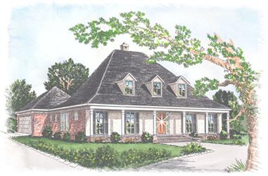 3-Bedroom, 2438 Sq Ft Southern House Plan - 113-1049 - Front Exterior