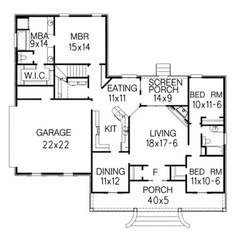 Country ranch home with 3 bedrms 1775 sq ft house for 1050 sq ft floor plans