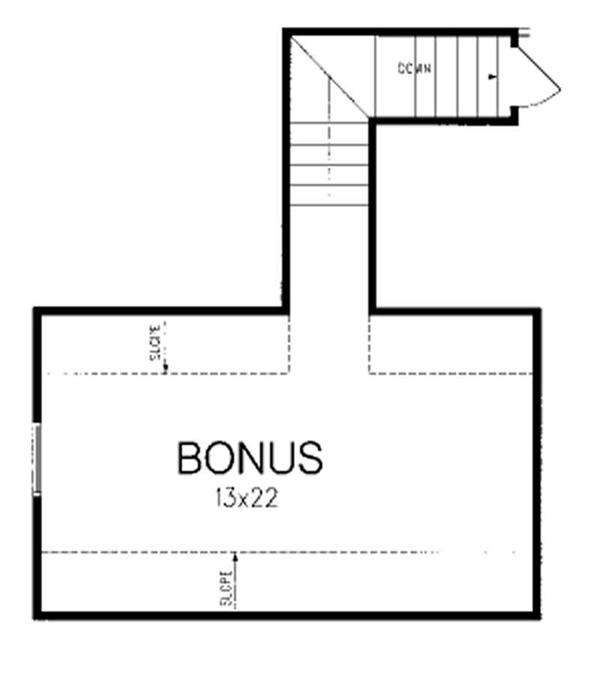 Upper Bonus Room Floor Plan