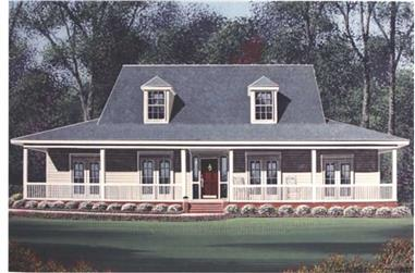 4-Bedroom, 2625 Sq Ft Country House Plan - 113-1051 - Front Exterior