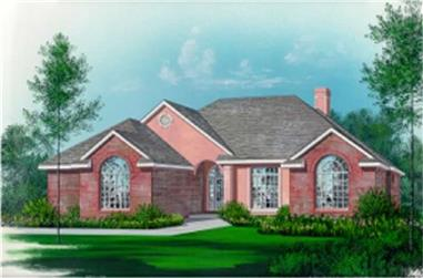3-Bedroom, 2048 Sq Ft Mediterranean Home Plan - 113-1052 - Main Exterior