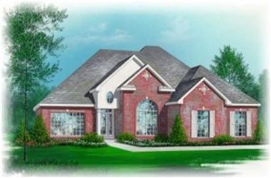 3-Bedroom, 1885 Sq Ft Traditional Home Plan - 113-1053 - Main Exterior