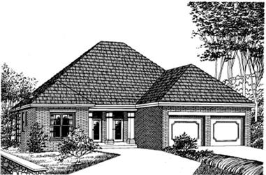 3-Bedroom, 2038 Sq Ft Southern Home Plan - 113-1054 - Main Exterior