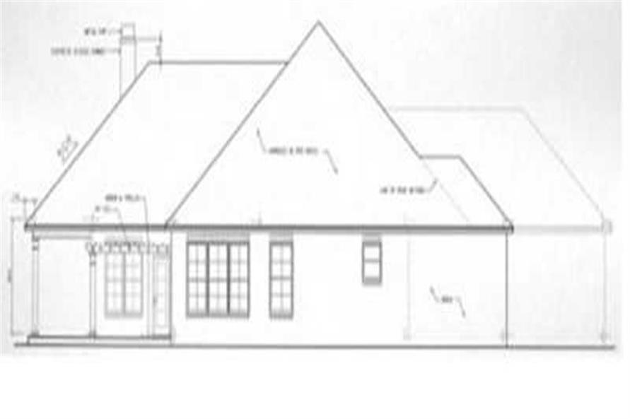 Home Plan Rear Elevation of this 3-Bedroom,2038 Sq Ft Plan -113-1054
