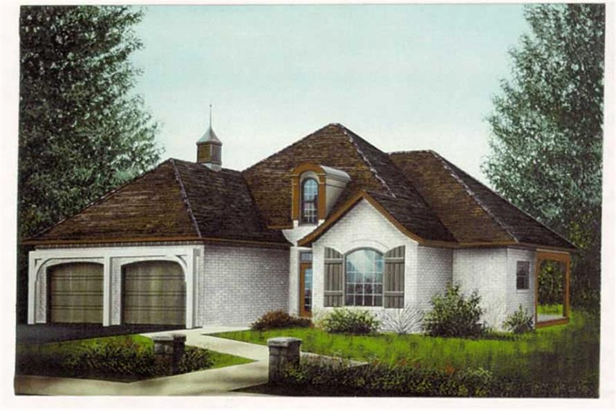 3-Bedroom, 1758 Sq Ft French Home Plan - 113-1057 - Main Exterior