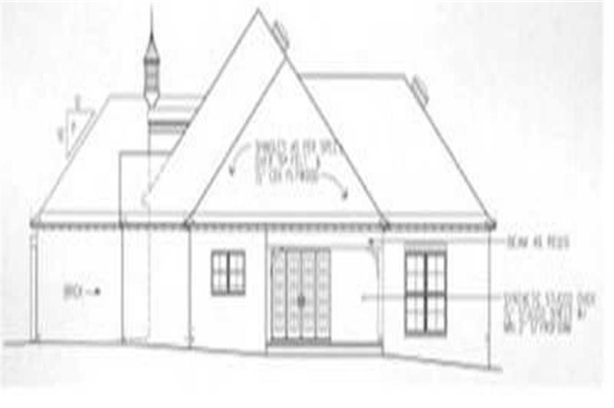 Home Plan Right Elevation of this 3-Bedroom,1758 Sq Ft Plan -113-1057