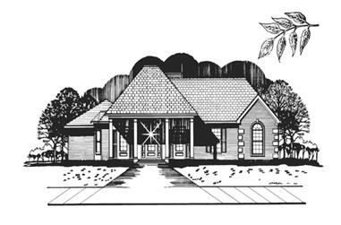 3-Bedroom, 1830 Sq Ft Colonial Home Plan - 113-1058 - Main Exterior