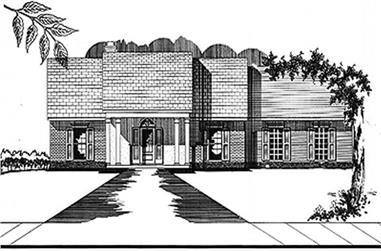 3-Bedroom, 1775 Sq Ft Ranch Home Plan - 113-1059 - Main Exterior
