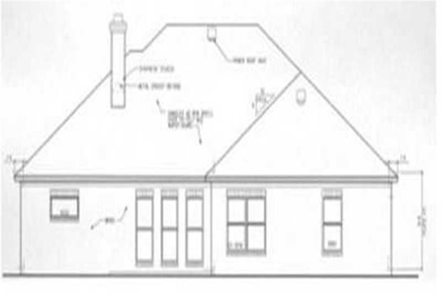 Home Plan Rear Elevation of this 3-Bedroom,1719 Sq Ft Plan -113-1060