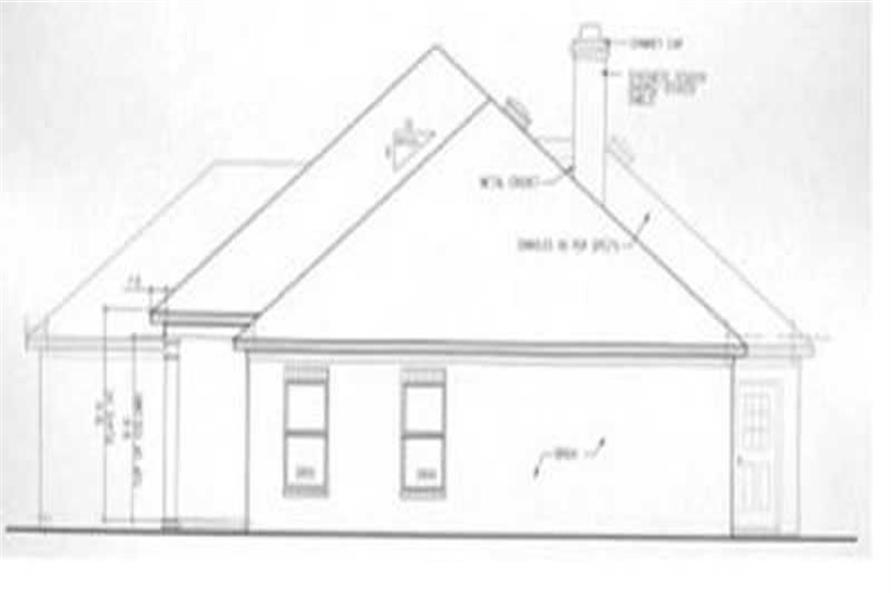 Home Plan Right Elevation of this 3-Bedroom,1719 Sq Ft Plan -113-1060