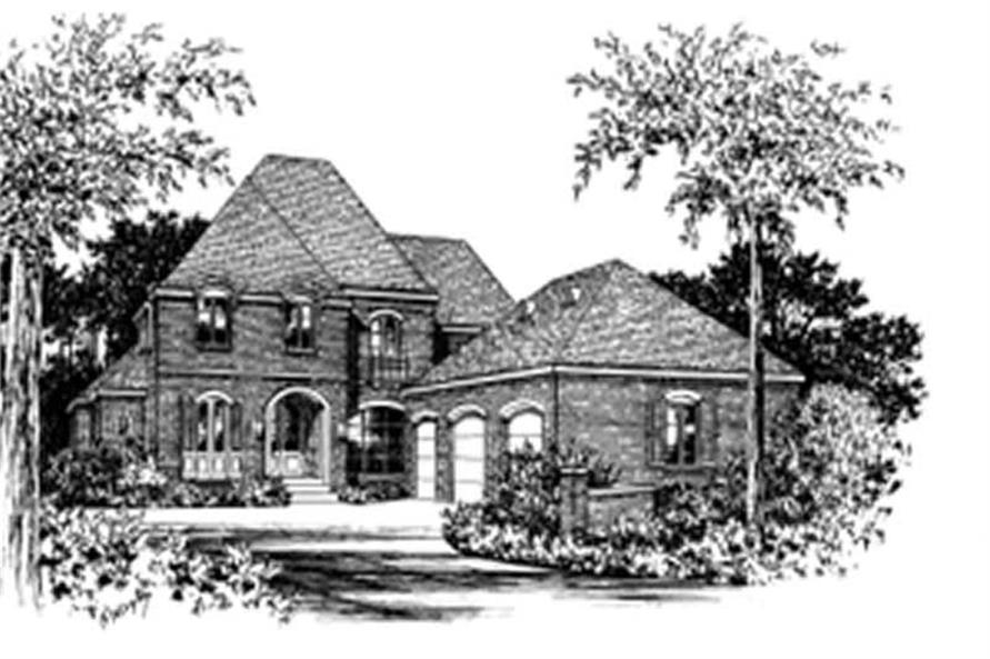 4-Bedroom, 3682 Sq Ft European Home Plan - 113-1062 - Main Exterior