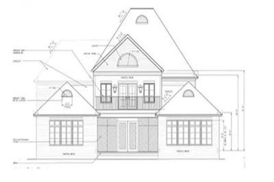 Home Plan Rear Elevation of this 4-Bedroom,3682 Sq Ft Plan -113-1062