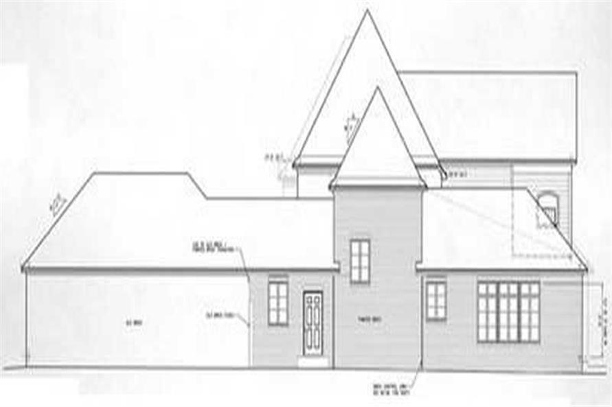 Home Plan Right Elevation of this 4-Bedroom,3682 Sq Ft Plan -113-1062