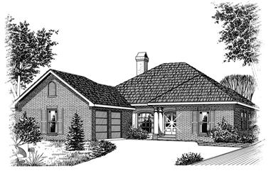 3-Bedroom, 1835 Sq Ft Ranch Home Plan - 113-1063 - Main Exterior