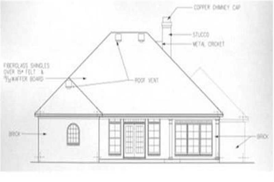 Home Plan Rear Elevation of this 3-Bedroom,1835 Sq Ft Plan -113-1063