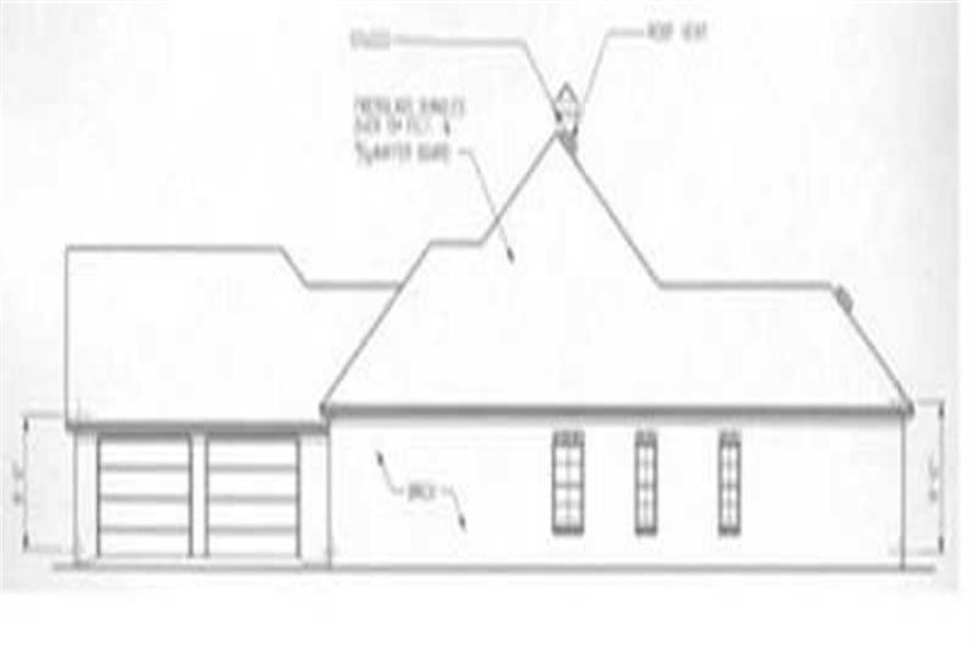 Home Plan Right Elevation of this 3-Bedroom,1835 Sq Ft Plan -113-1063