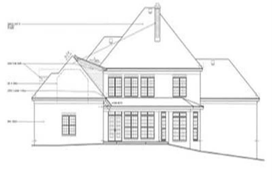 Home Plan Rear Elevation of this 5-Bedroom,4682 Sq Ft Plan -113-1065
