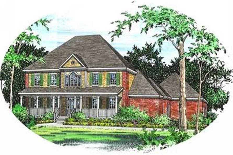 4-Bedroom, 3960 Sq Ft Country Home Plan - 113-1067 - Main Exterior