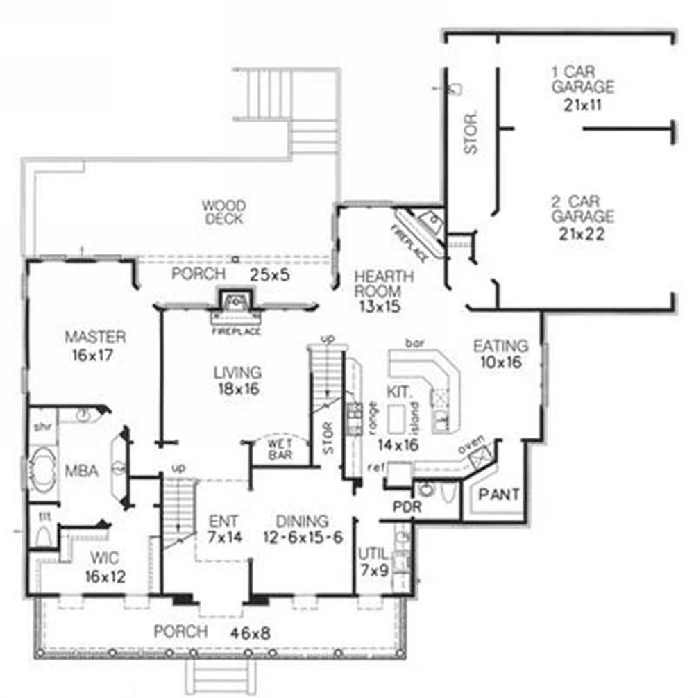 Large images for house plan 113 1067 for The house plan collection