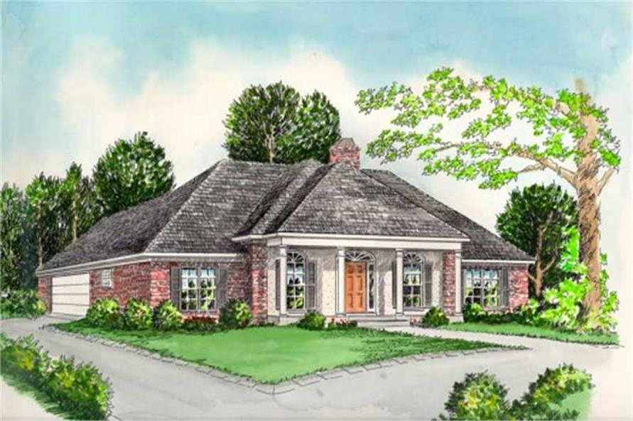 4-Bedroom, 2258 Sq Ft Colonial Home Plan - 113-1070 - Main Exterior