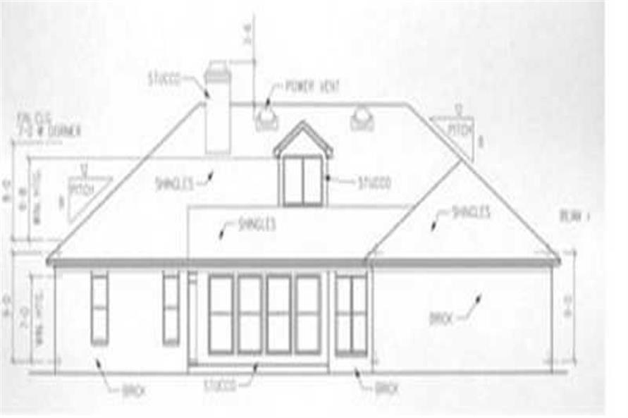 Home Plan Rear Elevation of this 4-Bedroom,2258 Sq Ft Plan -113-1070