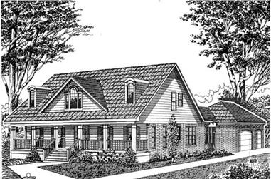 3-Bedroom, 2899 Sq Ft Country House Plan - 113-1074 - Front Exterior