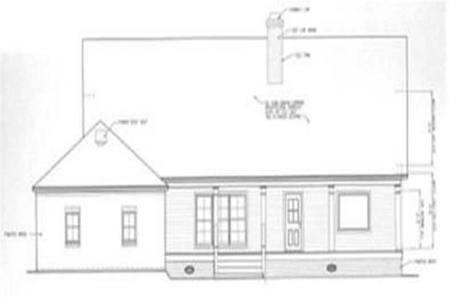 Home Plan Rear Elevation of this 3-Bedroom,2899 Sq Ft Plan -113-1074