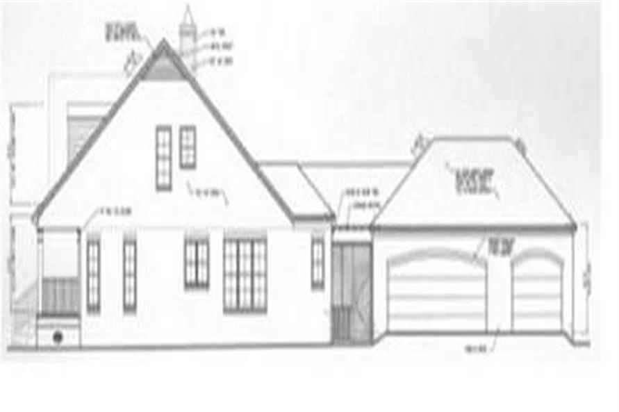 Home Plan Right Elevation of this 3-Bedroom,2899 Sq Ft Plan -113-1074