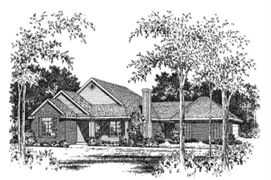 3-Bedroom, 1568 Sq Ft Ranch House Plan - 113-1075 - Front Exterior