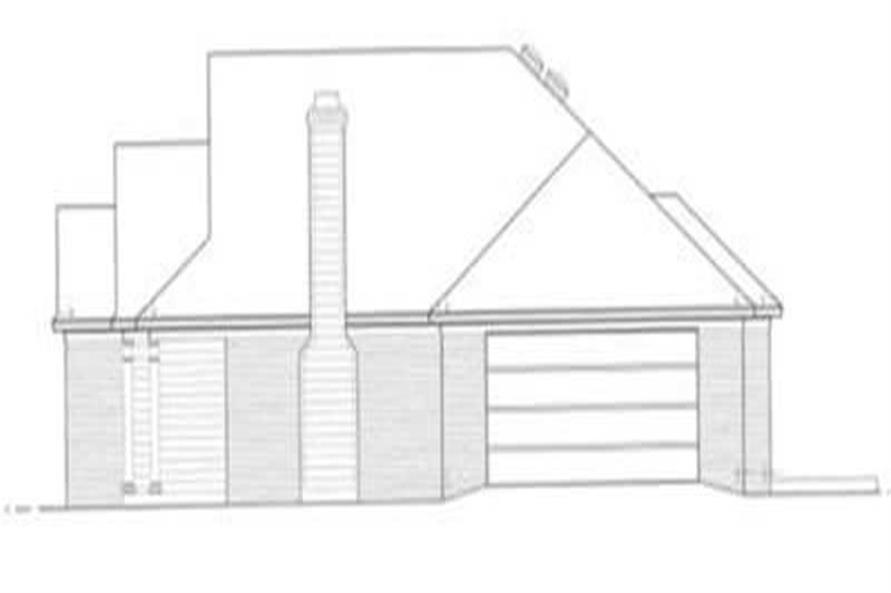 Home Plan Right Elevation of this 3-Bedroom,1568 Sq Ft Plan -113-1075