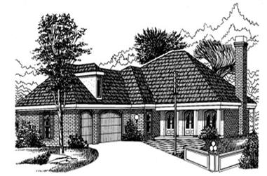 4-Bedroom, 2812 Sq Ft French House Plan - 113-1076 - Front Exterior