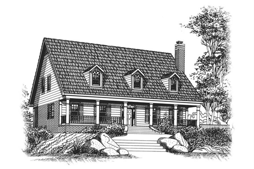 4-Bedroom, 2756 Sq Ft Country House Plan - 113-1078 - Front Exterior