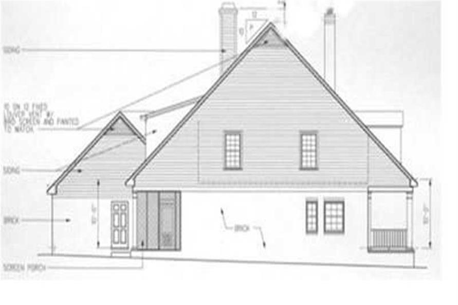 Home Plan Right Elevation of this 4-Bedroom,2756 Sq Ft Plan -113-1078
