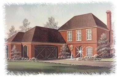 3-Bedroom, 2672 Sq Ft European House Plan - 113-1079 - Front Exterior