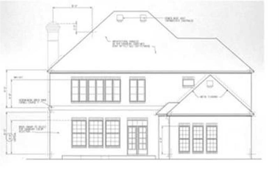 Home Plan Rear Elevation of this 3-Bedroom,2672 Sq Ft Plan -113-1079