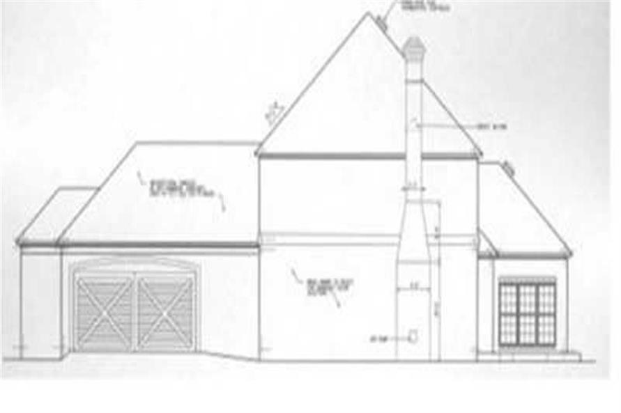 Home Plan Right Elevation of this 3-Bedroom,2672 Sq Ft Plan -113-1079