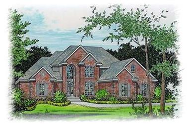 4-Bedroom, 2644 Sq Ft European House Plan - 113-1080 - Front Exterior