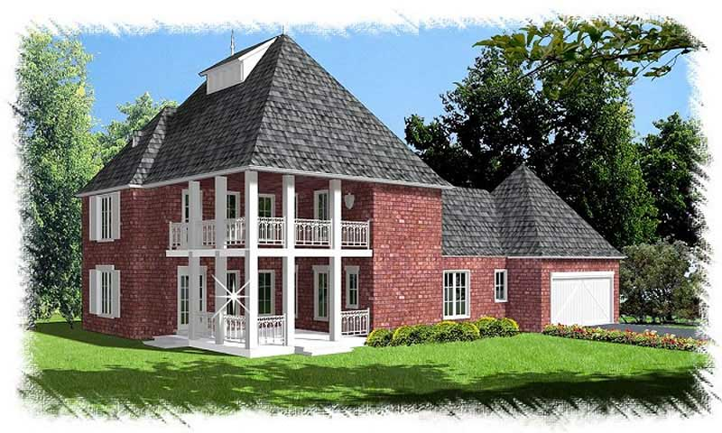 Colonial french home with 4 bedrms 2938 sq ft plan for French colonial house plans