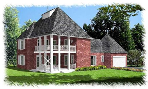 French colonial house plans home design bd 3204 1 9501 for French colonial house plans
