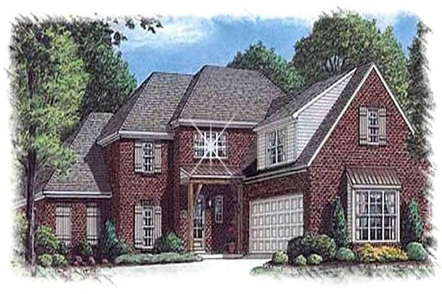4-Bedroom, 3450 Sq Ft Luxury Home Plan - 113-1083 - Main Exterior