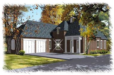 3-Bedroom, 2224 Sq Ft French Home Plan - 113-1084 - Main Exterior