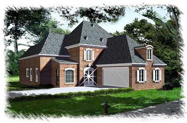 4-Bedroom, 2941 Sq Ft Home Plan - 113-1085 - Main Exterior